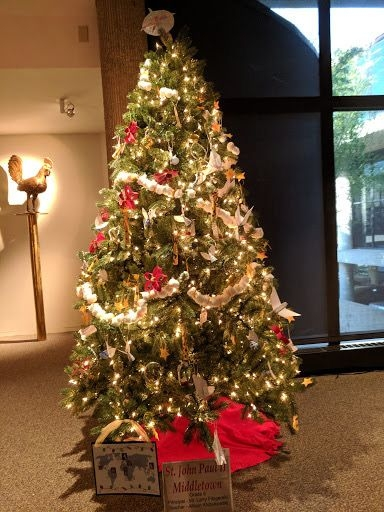 Grade 5 Students Decorate Tree for Knights of Columbus Museum